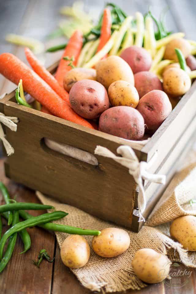 Garden Potato Salad | thehealthyfoodie.com