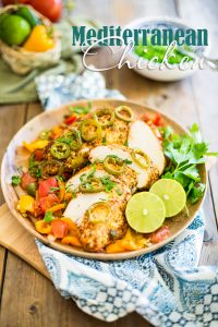 This Easy Mediterranean Chicken tastes just like you're on a dream vacation... except you won't have to leave the comfort of your home to enjoy it!