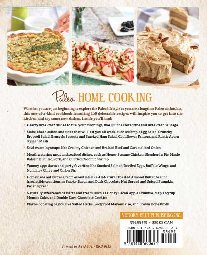 Paleo Home Cooking Back Cover | thehealthyfoodie.com