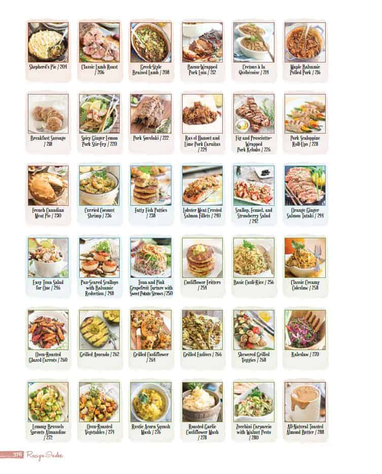 Visual Recipe Index | thehealthyfoodie.com
