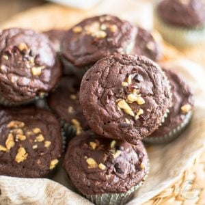 High Protein Chocolate and Salted Caramel Muffins