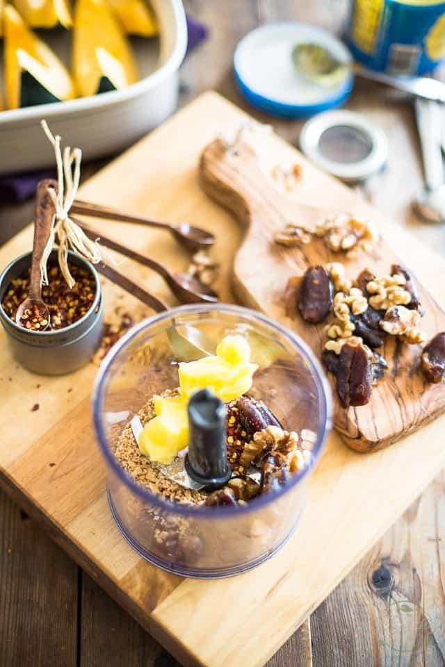Date Walnut Acorn Squash | thehealthyfoodie.com