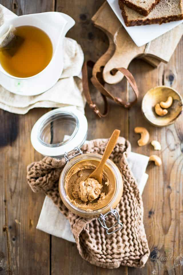Honey Roasted Cashew Butter | thehealthyfoodie.com