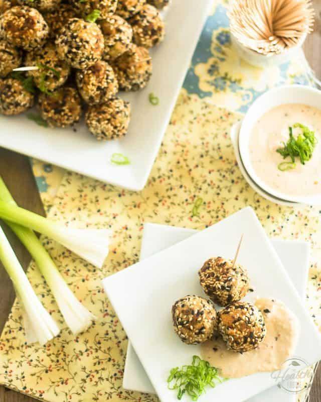 Sesame Salmon Balls | thehealthyfoodie.com