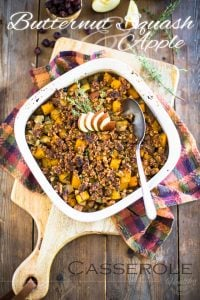 Butternut Squash and Apple Casserole with Maple Walnut Crumble: the perfect side dish for Thanksgiving or Christmas, or to make new friends any other day of the year!