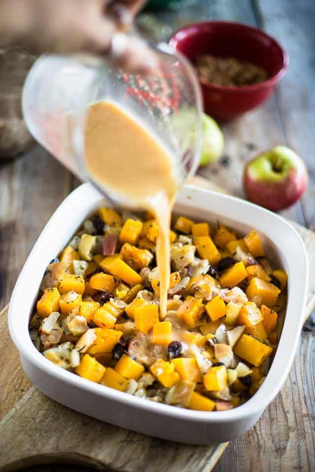 Butternut Squash and Apple Casserole | thehealthyfoodie.com