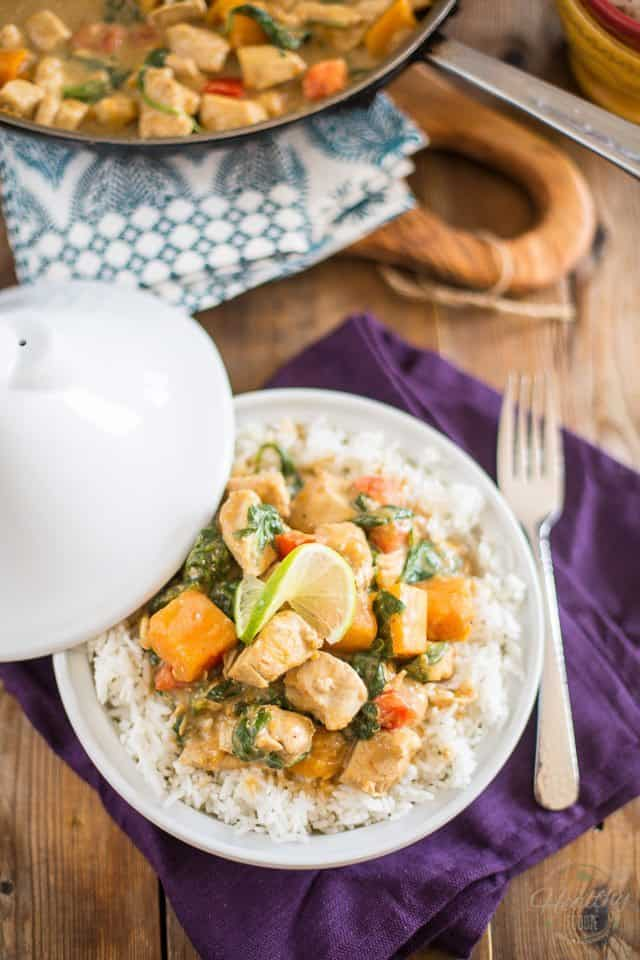 Butternut Squash Chicken Curry | thehealthyfoodie.com