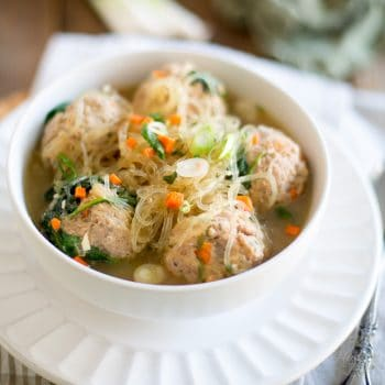 Meatball Noodle Soup – A recipe from One-Pot Paleo by Jenny Castaneda