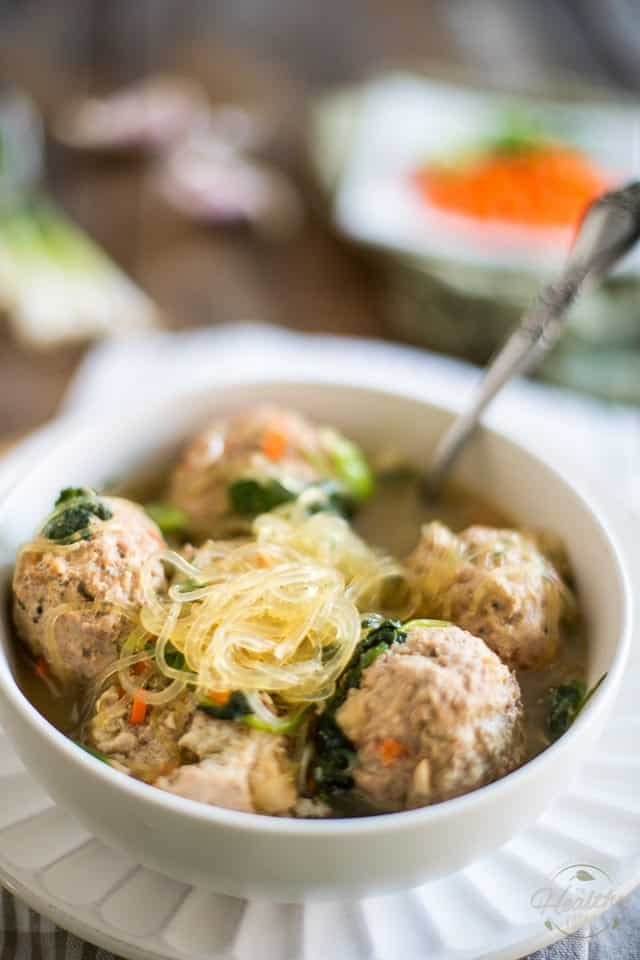 Meatball Noodle Soup | thehealthyfoodie.com