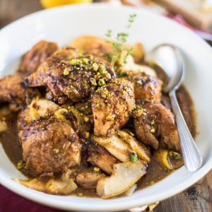 Pear Balsamic Chicken | thehealthyfoodie.com