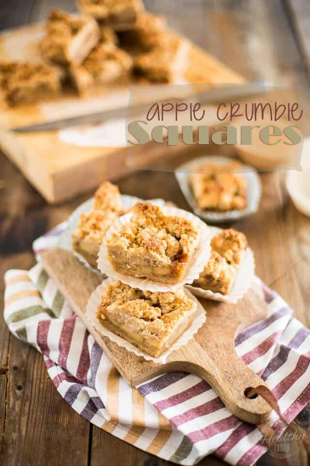 Apple Crumble Squares | thehealthyfoodie.com