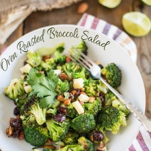 Oven Roasted Broccoli Salad | thehealthyfoodie.com