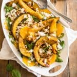 Acorn Squash Orange Spinach Salad | thehealthyfoodie.com