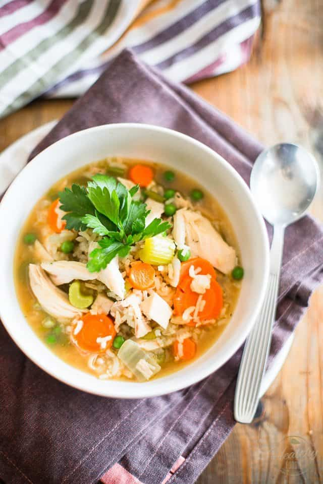 Chicken Rice Soup | thehealthyfoodie.com
