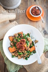Good food doesn't have to be complicated! Mix Ground Beef with Sweet Potatoes and Spinach and you've got yourself a tasty meal ready in just minutes!