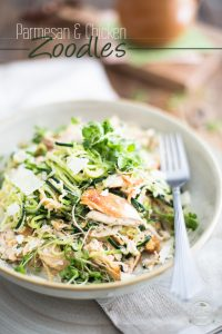 Ready in no time, this Parmesan and Chicken Zoodles recipe is as refreshing to the taste buds as it is pleasing to the eyes!