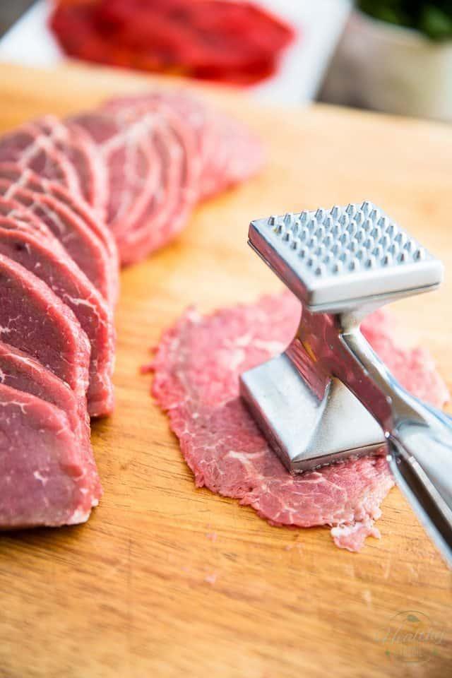 Beef Pinwheels | thehealthyfoodie.com