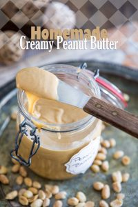 Homemade Creamy Peanut Butter is so easy to make and tastes so much better than the store-bought stuff. Once you've made your own, you'll never go back!