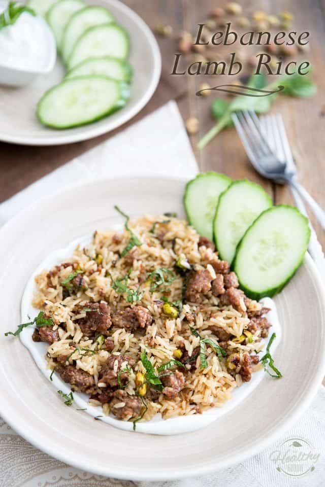Lebanese Lamb Rice   thehealthyfoodie.com