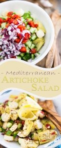 Probably the easiest recipe ever, yet it's so unbelievably tasty, you're gonna want to have some of that Mediterranean Artichoke Salad every day!