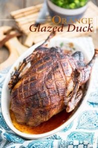Orange Glazed Duck | thehealthyfoodie.com