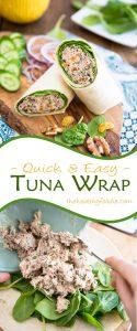 Tuna Wrap | thehealthyfoodie.com