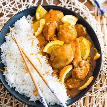 Asian Orange Glazed Chicken | thehealthyfoodie.com