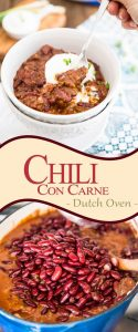 The Dutch oven is the perfect tool to cook the perfect Chili Con Carne. The stew comes out rich and thick, demands almost no attention and... NO splatter!