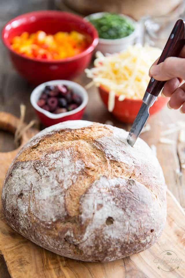 Vegetarian Muffuletta | thehealthyfoodie.com