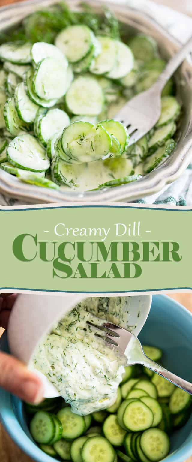 Creamy Dill Cucumber Salad | thehealthyfoodie.com