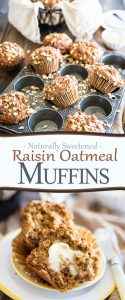 Perfect Oatmeal Muffins, even better than the bakery! Complete with crispy mushroom shaped top and super moist bottom, yet contain no refined sugar.