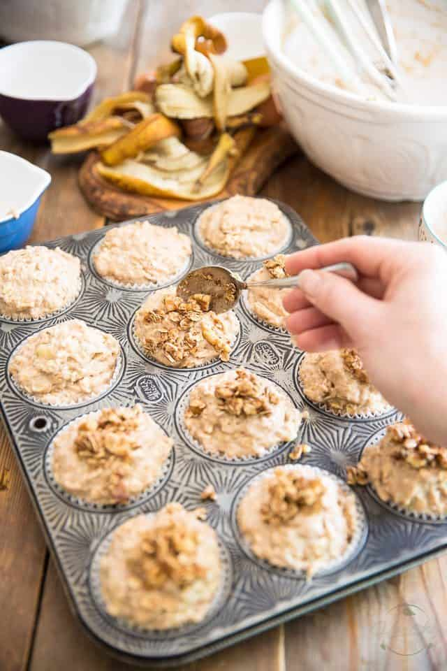 Banana Oatmeal Muffins | thehealthyfoodie.com