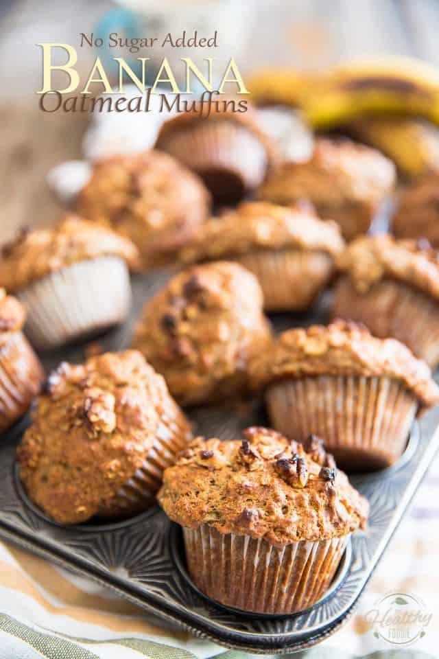 Banana Oatmeal Muffins | thehealthyfoodie.com