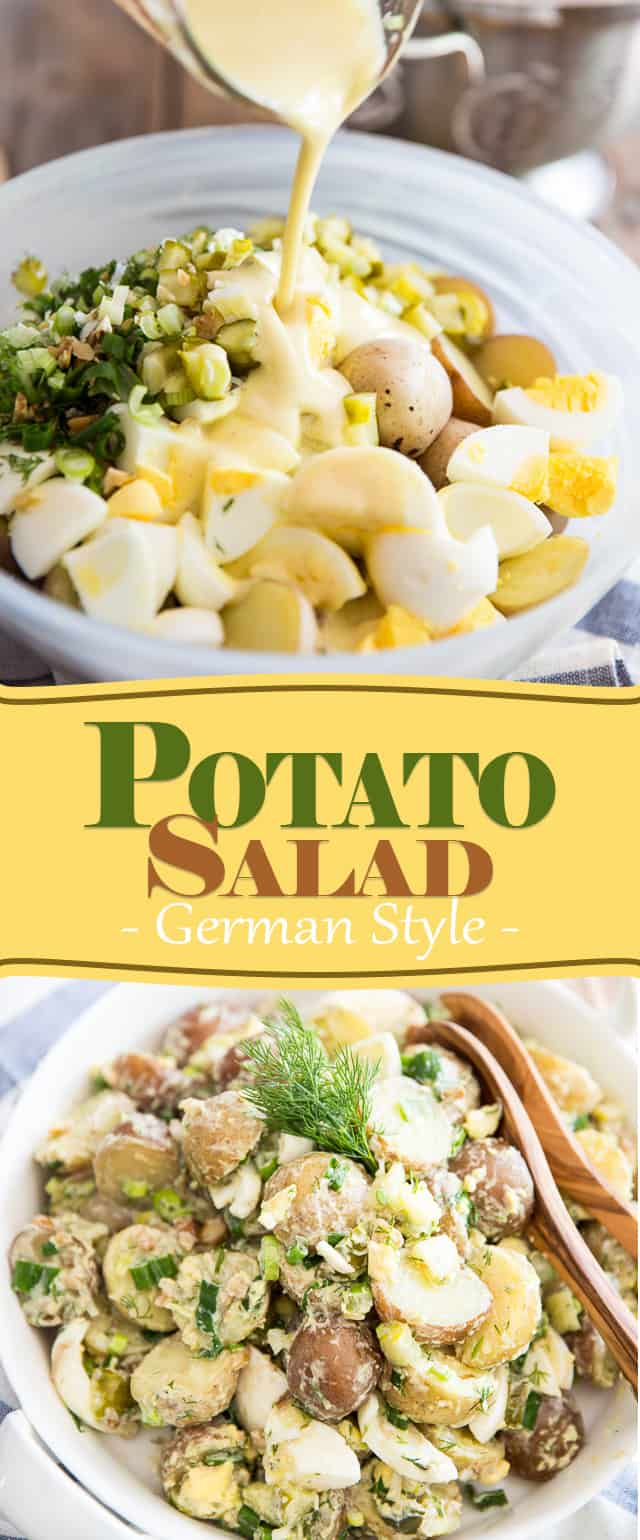 German Style Potato Salad | thehealthyfoodie.com