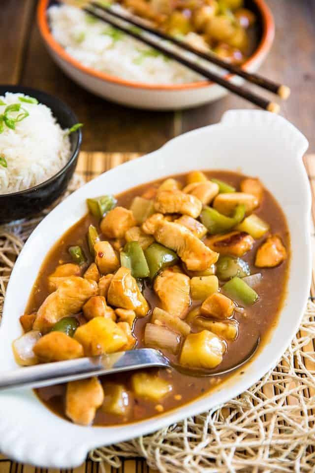 A truly healthy version of a great Asian Classic: Sweet and Sour Chicken. Once you've tried this one, you'll probably never opt for take-out ever again!