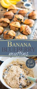 Virtually fat free and sweetened with nothing but fresh fruits, these Banana Blueberry Muffins make for a delicious snack any time of day