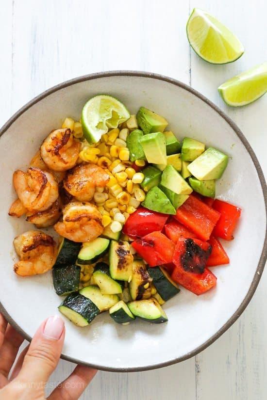 Grilled-Shrimp-and-Vegetable-Bowl