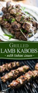 These lamb kabobs and tahini sauce harbor so much flavor, they totally belong on the menu of a 5 star restaurant! Learn how to make them super easily in the comfort of your own home.