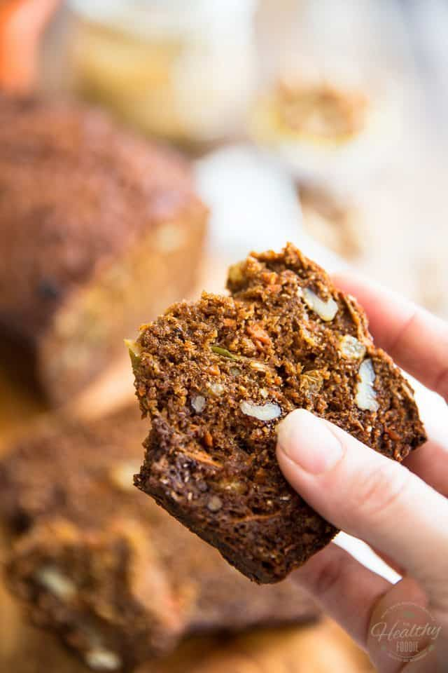 This naturally sweetened version of a Morning Glory Bread is so crazy tasty and delicious, you will never believe it's actually good for you!