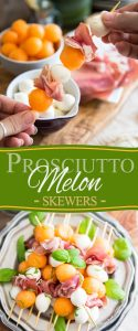 Prosciutto Melon Skewers: A great classic made super elegant and easily portable! Perfect for your next picnic or summer BBQ by the poolside!