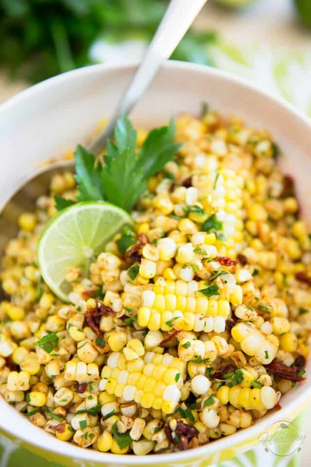 Refreshingly delicious and pleasantly spicy, this Chili Lime Corn Salad is so crazy good and tasty, you'll never again wonder what to do with your leftover corn.