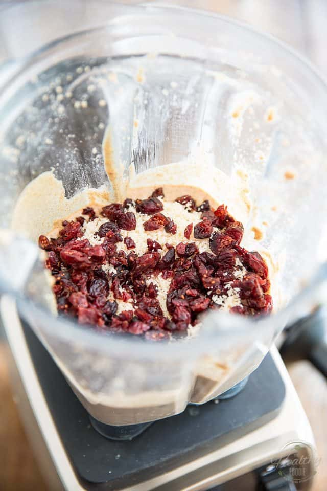 Coconut Cranberry Almond Butter by The Healthy Foodie | Step-by-step instructions on thehealthyfoodie.com