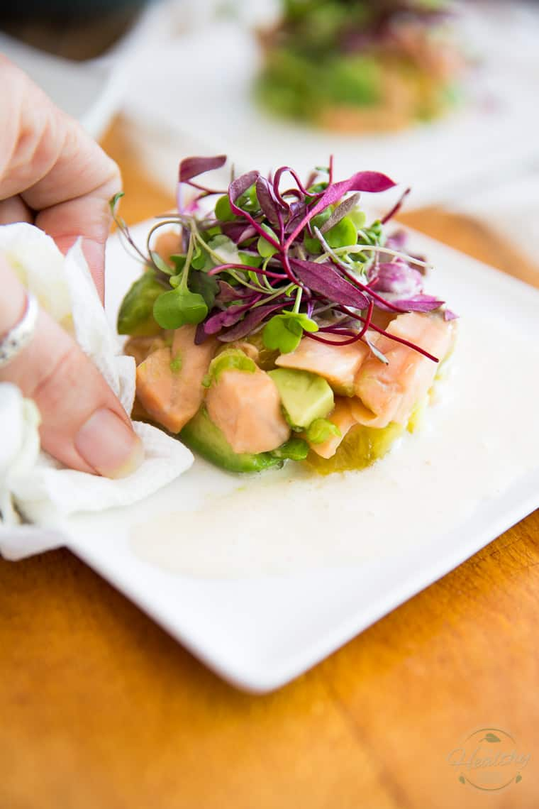 Citrus Avocado Salmon Ceviche by Sonia! The Healthy Foodie | Step-by-step instructions on thehealthyfoodie.com
