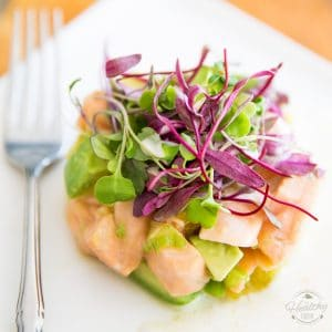 This Citrus Avocado Salmon Ceviche makes for an easy, elegant and delicious appetizer or light meal.