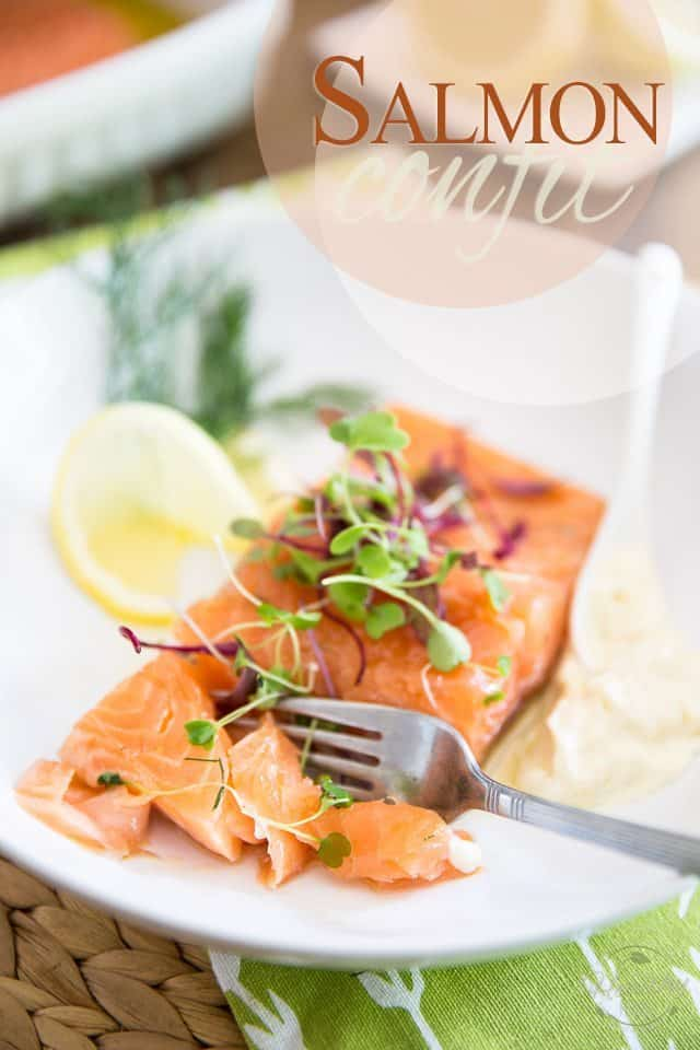 Salmon Confit is so unbelievably soft and tender, it literally melts in your mouth! It's surprisingly easy to make, too! Try it today... you won't be sorry!