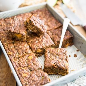 Chock-full of fruits and vegetables, this naturally sweetened Zucchini Cake makes for a surprisingly healthy snack, but would be delicious for dessert, too!