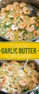 You won't believe the amount of flavor that this Garlic Butter Lemon Shrimp dish boasts. Serve with pasta, rice, quinoa or zoodles for a quick and easy meal