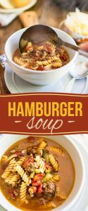 Hamburger soup: it's the goodness of a juicy hamburger and the warmth of a big comforting bowl of soup, all rolled into one!