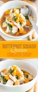 Soul warming and deliciously comforting Butternut Squash Quinoa Chicken Soup - your best ally this fall and winter season!