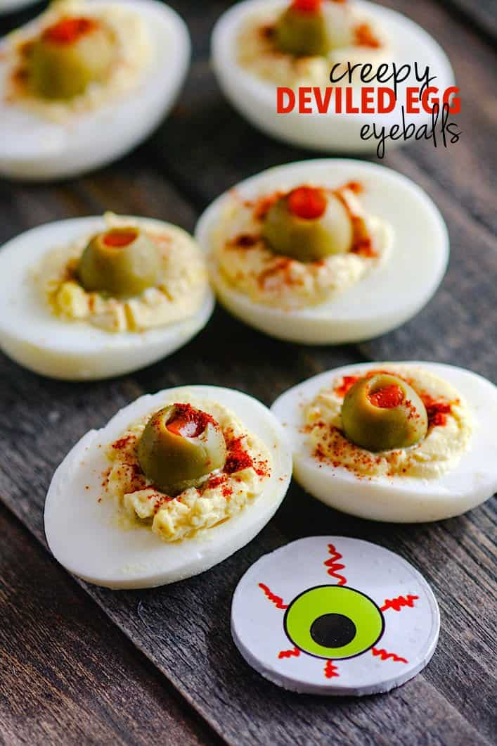 Blood Shot Deviled Egg Eyeballs